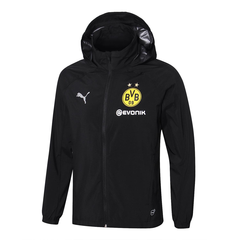 Borussia Dortmund Windbreaker 2018 2019 Black Sportswearspot