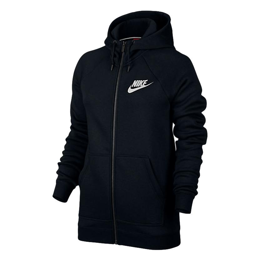 Nike Hoodie Women – Black (white logo