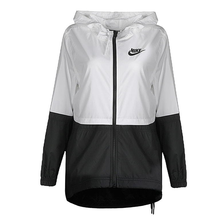 black and white nike windbreaker