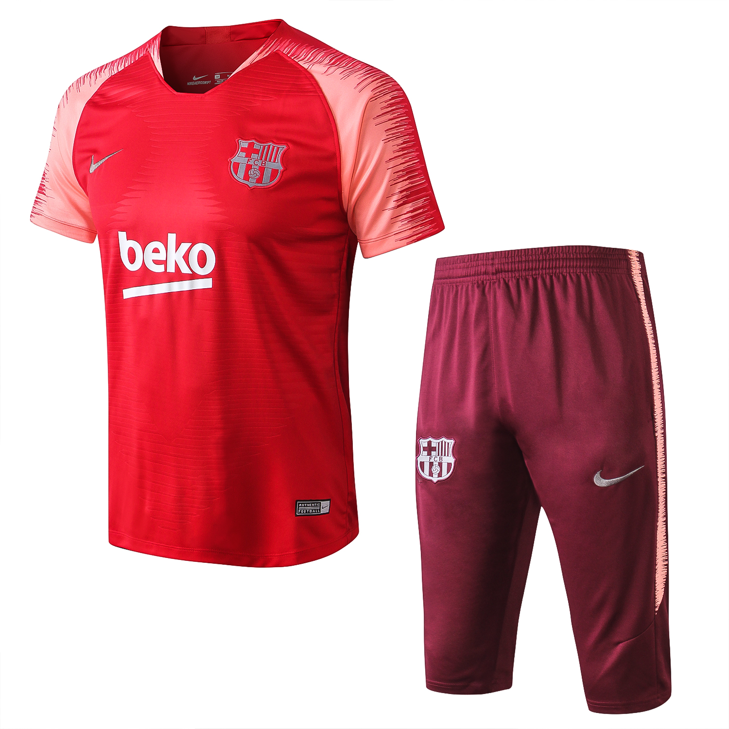 huge discount 4fd56 6f59a Barcelona Short Training Suit 2019/2020 - Pink/Red