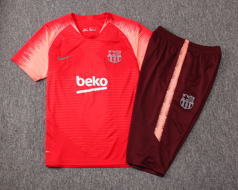 huge discount 66641 f748e Barcelona Short Training Suit 2019/2020 - Pink/Red