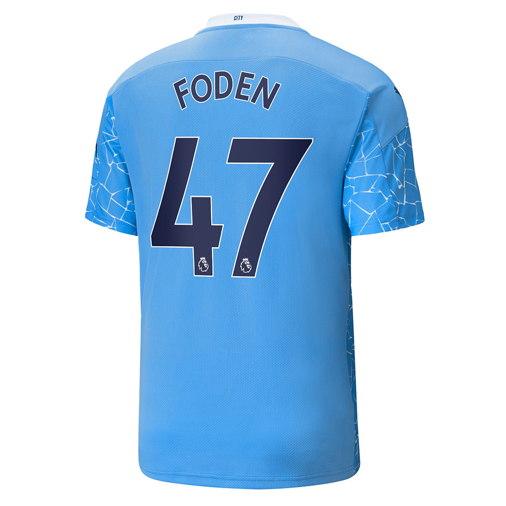 Manchester City Home Jersey 2020/2021 + Foden 47 Printing ...